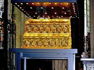 Shrine of the Three Kings - Image: Cologne Dreikoenigsschrein Koelner Dom