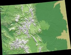 Geography Of Colorado Wikipedia - Elevation map of colorado