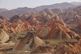 Colourful mountains of the Zhangye National Geopark.jpg