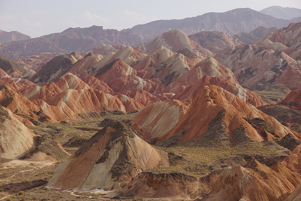 Colourful mountains of the Zhangye National Geopark