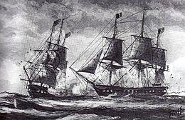 Combat naval pendant la quasi guerre