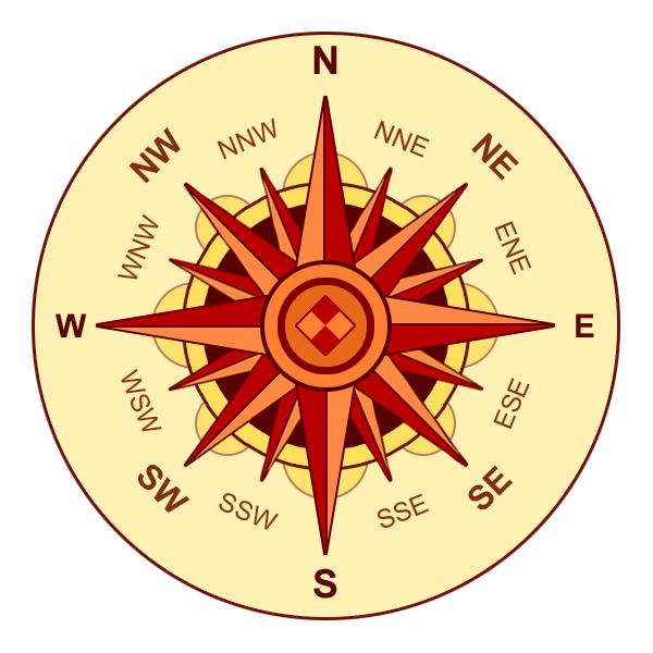 Compass rose browns 00