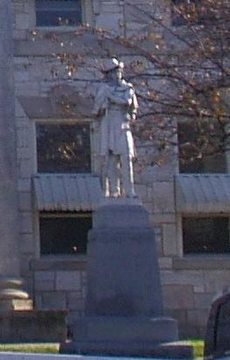 National Register of Historic Places listings in Anderson County, Kentucky - Image: Confederate Monument in Lawrenceburg temp