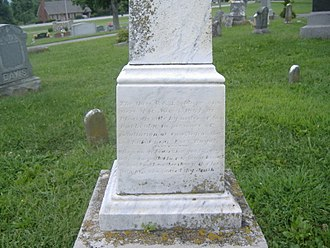 Confederate Soldiers Martyrs Monument in Eminence - Image: Confederate Soldiers Martyrs Monument in Eminence 3