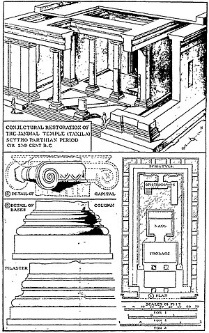 Jandial - Conjectural restoration of the Jandial Temple.