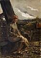 Constantin Meunier - De wagenvoerster (1887) in het museum Dhondt-Dhaenens 12-02-2010 15-11-27.jpg