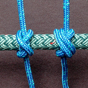 Constrictor knot - Left: constrictor knot Right: double constrictor knot