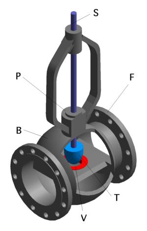 Проходной запорно-регулирующий клапан с электрическим приводом.