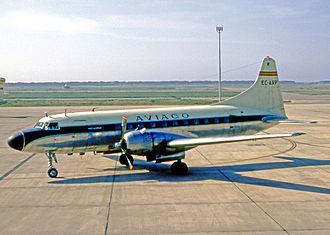 Aviaco - Aviaco Convair 440 at Barcelona Airport in 1970