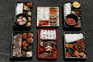 <i>Dosirak</i> type of packed meal in Korea and Japan
