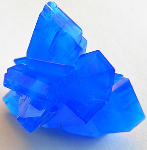 Water of crystallization - Image: Copper sulfate