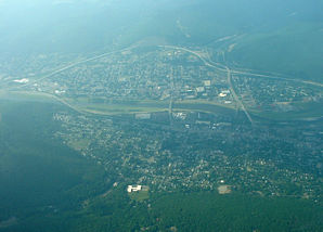 Aerial view of Corning