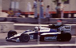 Corrado Fabi - Corrado Fabi substituting for his brother Teo at the 1984 Dallas Grand Prix