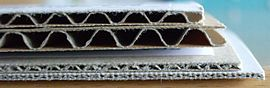 Corrugated board B C E and F flute.JPG