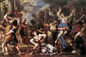 The Rape of the Sabine Women - Rape of the Sabine Women by Pietro da Cortona, 1627–29.