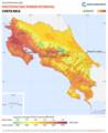 Costa-Rica PVOUT Photovoltaic-power-potential-map GlobalSolarAtlas World-Bank-Esmap-Solargis.png