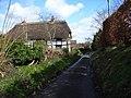 Cottage and lane, Up Nately - geograph.org.uk - 147190.jpg