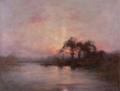 Coucher de soleil sur un lac (D. Koechlin).png