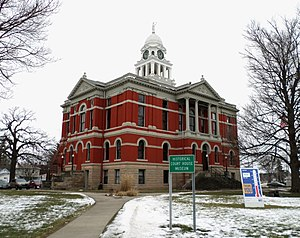 National Register of Historic Places listings in Eaton County, Michigan - Image: County Courthouse Museum Charlotte