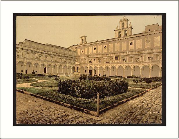 Cloitre aux citronniers de la Chartreuse de Naples.