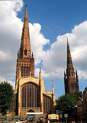Two of Coventry's three spires