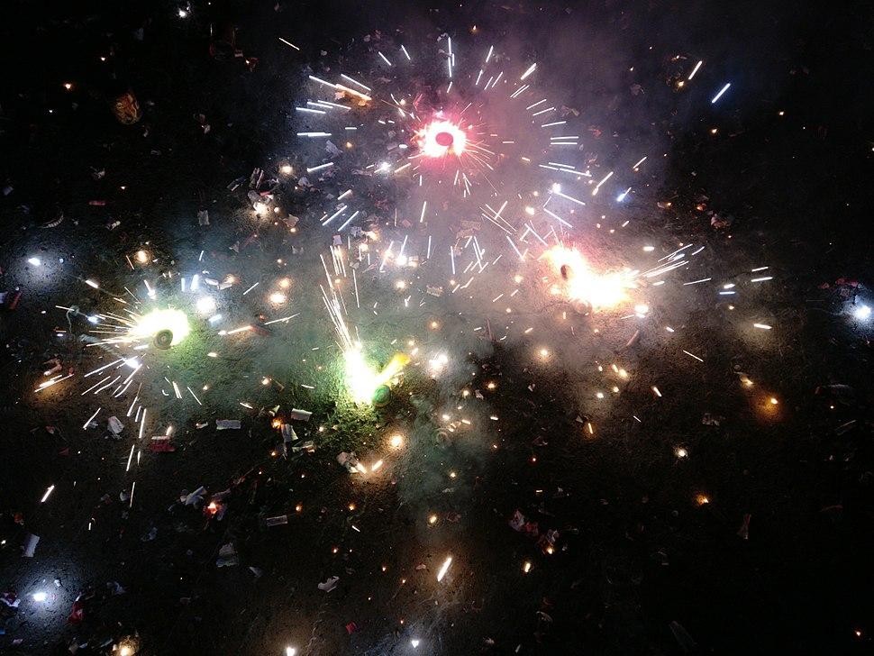Crackers at Diwali in Guntur.jpg
