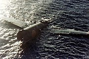 Crashed Mitsubishi G4M floating off Tulagi on 8 August 1942 (80-G-K-383)