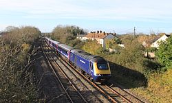 Creech St Michael - fGWR 43170 passing station site.JPG