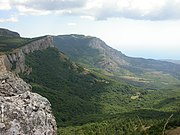 The Crimean Mountains near the city of Alushta.