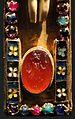 Croce pettorale di san servazio, oro, pietre preziose e smalti, treviri 890 ca., gemma di guerriero.jpg
