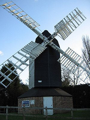 Grade II* listed buildings in East Hertfordshire - Image: Cromer Windmill geograph.org.uk 109693