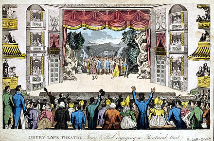 Theatre Royal, Drury Lane, London, c. 1821