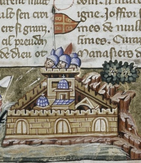 Crusaders attack Constantinople - Detail of Constantinople