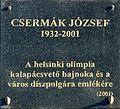 Csermák József plaque Tapolca Batsányi János tér.jpg