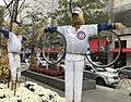 Cubs scarecrows on the Magnificent Mile in Chicago. (30049279573).jpg
