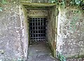 Culzean Ice House, South Ayrshire - the old double doors entrance.jpg