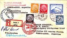 Франкированный авиапочтовый конверт (1935 г.)