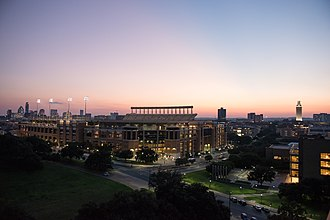 Darrell K Royal–Texas Memorial Stadium - View from the LBJ Presidential Library