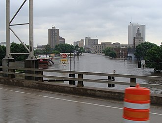 Cedar Rapids, Iowa - Flooded Business District June 12, 2008
