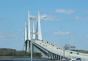 Dames Point Bridge - Image: Dames point bridge jax march 05