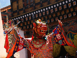 Public holidays in Bhutan - Dance of the Lord of Death, Paro