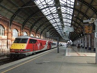 Darlington railway station Railway station on the East Coast Main Line in County Durham