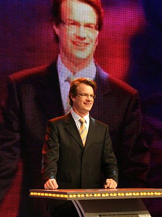 Dashan - Dashan (Mark Rowswell) hosting a live broadcast for China Central Television in November 2006