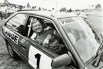 David Lange - Lange partaking in a motor race.