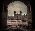 Dawn at Wazir Khan Mosque.JPG