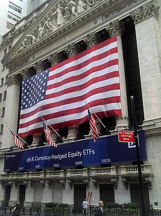 NYSE Arca - The New York Stock Exchange building on August 9, 2011, when Deutsche Bank's db-X Group commenced trading on NYSE Arca
