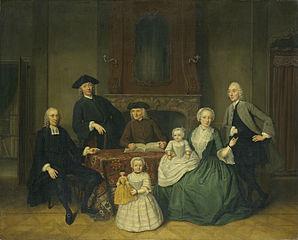 Portrait of the Brak Family, Amsterdam Mennonites