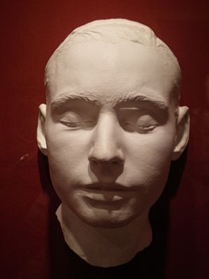 Leland Stanford Jr. - Leland Stanford's death mask on display at the Iris & B. Gerald Cantor Center for Visual Arts
