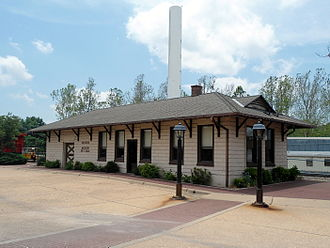 Decatur, Arkansas - The historic Kansas City-Southern Depot was built in 1920 and added to the National Register of Historic Places (NRHP) in 1992.