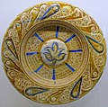 Deep dish, Manises, Valencia, Spain, c. 1500, tin-glazed earthenware - Montreal Museum of Fine Arts - Montreal, Canada - DSC09268.jpg